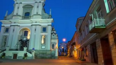Gate Vilnius, Vilnius, Lithuania hyper time-lapse — Stock Video