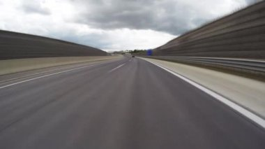 Austrian Autobahn, time-lapse — Stock Video