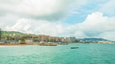 Cannes, panoramic time-lapse — Stock Video