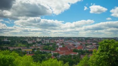 Vilnius, Lithuania, panoramic time-lapse — Stock Video