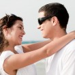 Love couple look each other and smile — Stock Photo #1142818