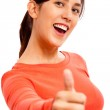 Happy Young Lady Showing Thumb — Stock Photo #1143363
