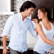 Young couple in the kitchen — Stock Photo #1147731