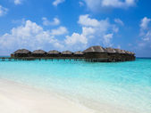 Maldives, Villa on piles on water — Stock Photo