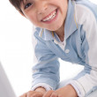Portrait of cute caucasian boy smiling — Stock Photo #1960876