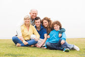 Happy family posing together — Stock Photo