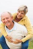 Mature couple having fun — Стоковое фото
