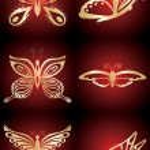 mariposa dorada — Vector de stock  #1297137