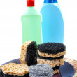 Royalty-Free Stock Photo: Kitchen sponges for ware washing on a white background