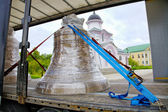 Church bell transport by the truck — Stock Photo