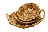 Wattled basket isolated on a white background — ストック写真