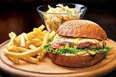 Homemade Beef burger — Stock Photo