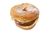 Doughnut with chocolate — Stock Photo