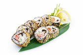 Sushi Banzai isolated on white background — Stock Photo