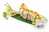 Sushi Green Dragon isolated on white background — Stock Photo