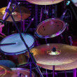 Purple drums - Stock Photo