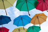 Multicolors umbrellas — Stock Photo