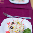 Royalty-Free Stock Photo: Creative crab  salad