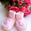 Baby girl shoes — Stock Photo #19509925