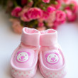 Stock Photo: Baby girl shoes