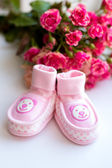 Baby girl shoes — Stock Photo