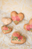 Handmade hearts — Stock Photo