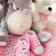 Baby girl shoes — Stock Photo #40947003