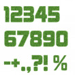 Royalty-Free Stock Photo: The numbers of herbal character