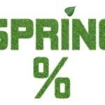 palavra de primavera de cartas de grama — Foto Stock