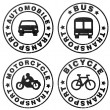 Stamp symbolizing transport — Stock Photo