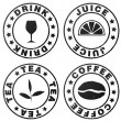 Stamp symbolizing beverages — Stock Photo