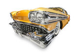 Yellow retro car, — Stock Photo