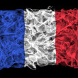 Smoky flag of France — Stock Photo