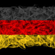Smoky flag of Germany — Stock Photo