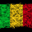 Smoky flag of Mali — Stock Photo