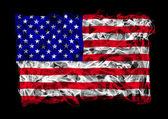 Ahumado bandera de estados unidos — Foto de Stock