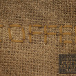 "Embroidered text ""COFFEE"" — Stock Photo #22751439"