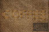 """Embroidered text """"COFFEE"""" — Stock Photo"""