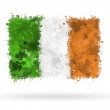 Flag of Ireland painted with watercolors — Stock Photo