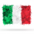 Stock Photo: Flag of Italy painted with watercolors