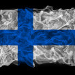 Smoky flag of Finland — Stock Photo #23351728