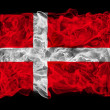Smoky flag of Denmark - Stock Photo