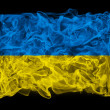 Smoky flag of Ukraine — Stock Photo