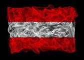 黑烟国旗的奥地利 — 图库照片