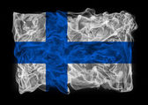 Smoky flag of Finland — Stock Photo