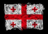 黑烟国旗的格鲁吉亚 — 图库照片