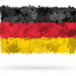 Flag of Germany painted with watercolors — Stock Photo #23465062
