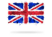Flag of Great Britain painted with watercolors — Stock Photo