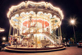 Illuminated vintage carousel — Stock Photo