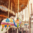 Retro carousel in Paris — Stock Photo #24748893
